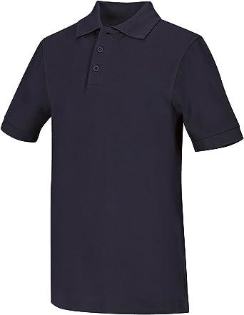 sos Black L Classroom School Uniforms Adults Mens Unisex Short Sleeve Pique Polo