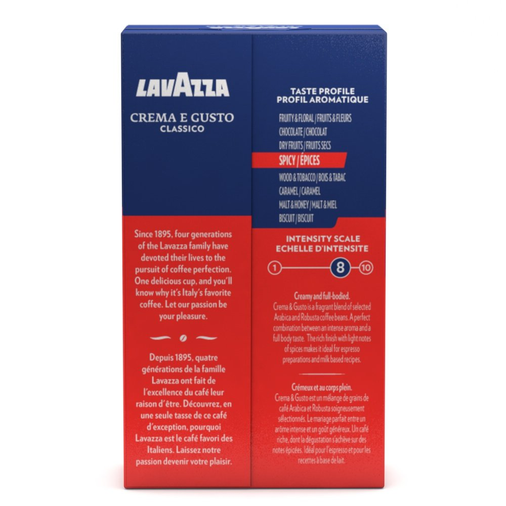 Amazon.com   Lavazza Crema e Gusto Ground Coffee Blend, Espresso Dark  Roast, 8.8-Ounce Bags (Pack of 4).   Grocery   Gourmet Food 1259f430a4