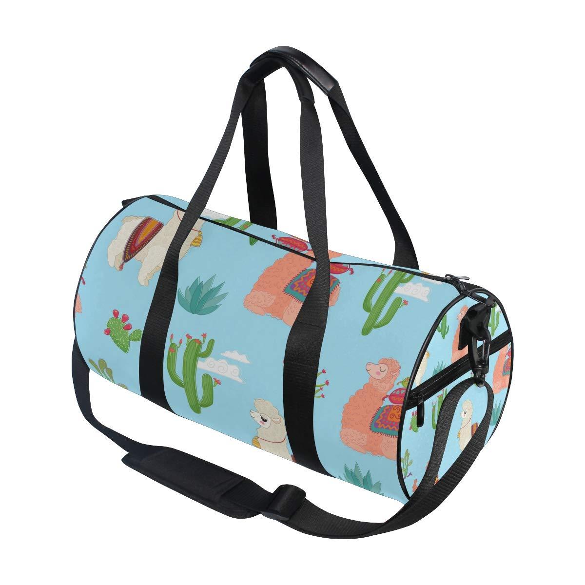 Llama Unisex's Duffel Bag Travel Tote Luggage Bag Gym Sports Luggage Bag by EVERUI (Image #3)