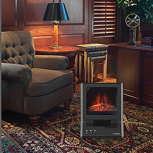 Lasko Ca20100 Ultra Ceramic Fireplace Heater Black