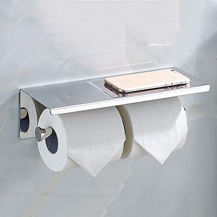 Jia Jia comercio acero inoxidable dispensador de toalla de rollo de papel higiénico con papel caja