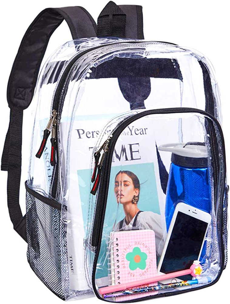 Heavy Duty Clear Backpack,Transparent Backpack for Work,School