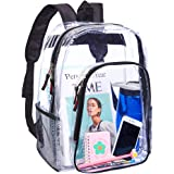 Heavy Duty Clear Backpack,Transparent Backpack for Work,School,Sports