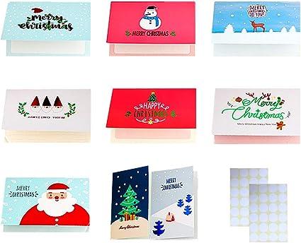 Biglietti Di Natale Modelli.24 Biglietti D Auguri Di Natale Biglietti Di Natale Di 8 Modelli Carini Disegni Di Babbo