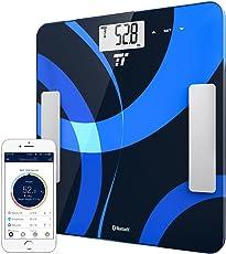 TaoTronics 体重・体組成計 スマートスケール 高性能センサー付 bluetooth スマホアプリで健康管理 (体脂肪率/筋肉率/基礎代謝量など測定可) FDA認証 TT-MX001