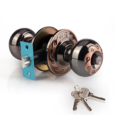 Ivoku Ball Privacy Interior Doorknob With 3 Key And Deadbolt,Vintage Keyed  Entry Door Knobs