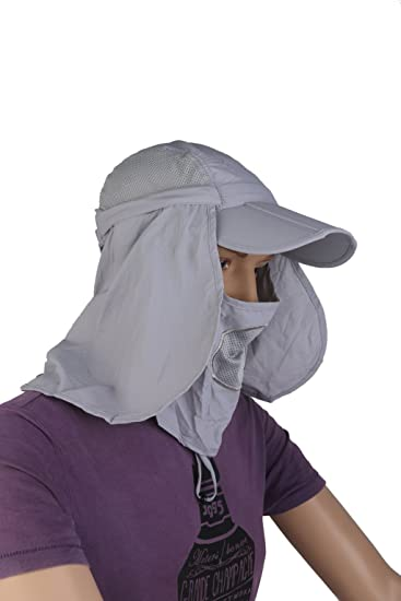 aa4704cfaf1 Buy Generic 360-degree Neck Shawl Sun UV Protection Removable Hat Hunting  Fishing Grey Online at Low Prices in India - Amazon.in