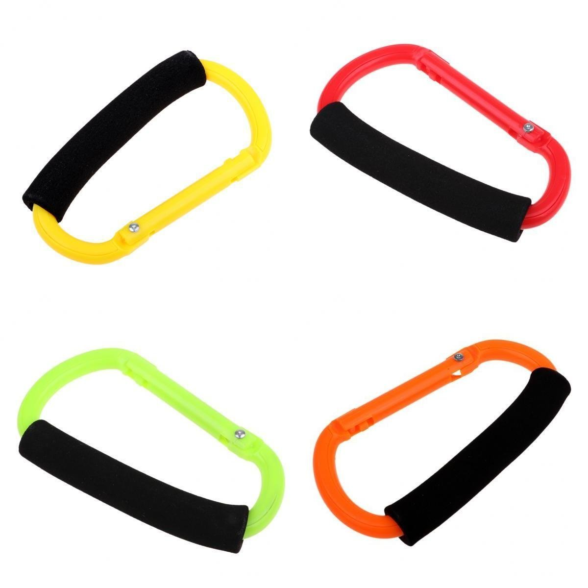D DOLITY 4pcs D Type Hook Clip Multifunction Plastic Hanging Buckle for Shopping Bag Roller Skates Ice Skates Boots with Soft Hands Protective Sponge Cover