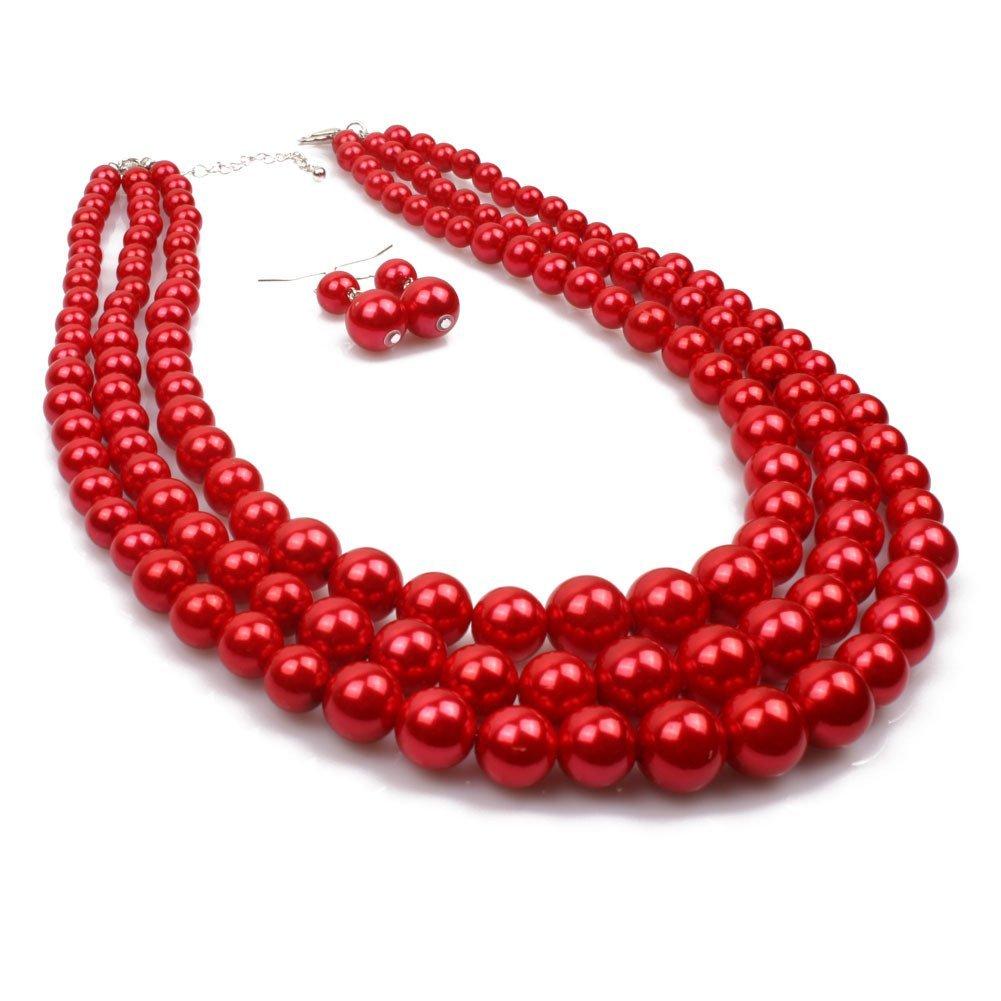 Winter.Z Multi-storey Pearl Clavicle chain Explosion models exaggeration fashion retro false collar necklace 64102