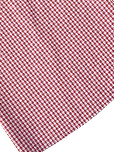 Dress Short Women's Floerns Gingham Pink Overall Pinafore Suspender 6qOxPnzwS