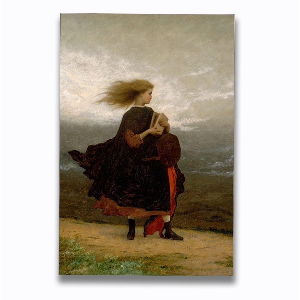Girl I Left Behind Me (Eastman Johnson) Aluminum Metal Photo Print Wall Art Wall Décor - 20''x30''