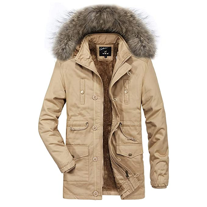 ♚ Abrigo de algodón Casual para Hombre, Otoño Invierno Casual para Hombre Agregar Terciopelo Cálido con Capucha Espesar Abrigo Outwear Top Blusa Absolute: ...