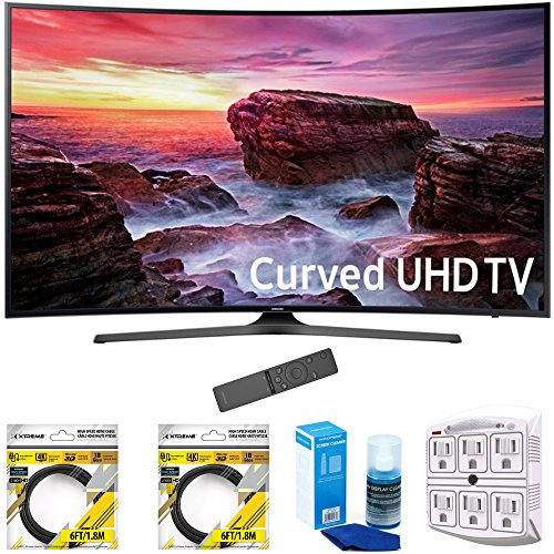 Samsung-49-Curved-4K-Ultra-HD-Smart-LED-TV-2017-Model-UN49MU6500FXZA-with-2x-6ft-High-Speed-HDMI-Cable-Screen-Cleaner-for-LED-TVs-Stanley-6-Outlet-Surge-Adapter-with-Night-Light