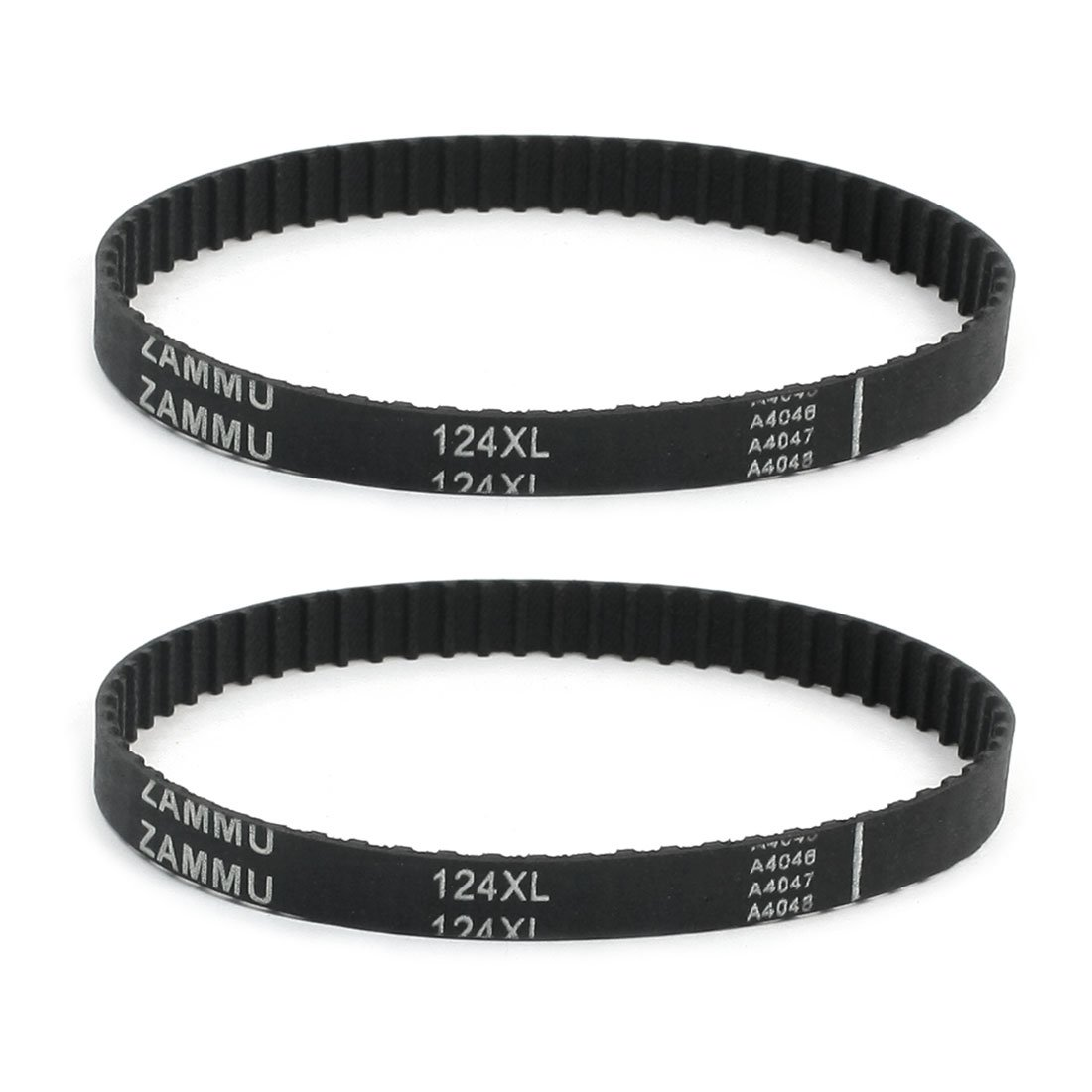 uxcell 2Pcs 124XL 5.08mm Pitch 62-Tooth Single Side Rubber Cogged Timing Belt a14052600ux0683