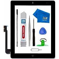 MMOBIEL Digitizer Display Glas für IPad 3 (Schwarz) 9.7 Inch Touchscreen Ersatzteil Inkl Flex Home Button + Kamera Halterung + Klebesticker und Werkzeugset mit Anleitung
