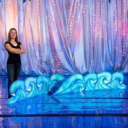 Nautical Sea Ocean Wave Cutouts Standup Photo Booth Prop Background Backdrop Party Decoration Decor Scene Setter Cardboard Cutout]()