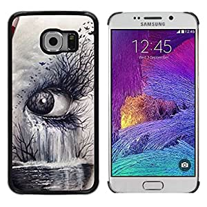 Paccase / SLIM PC / Aliminium Casa Carcasa Funda Case Cover - Nature Art Deep Meaning Cry Sad - Samsung Galaxy S6 EDGE SM-G925