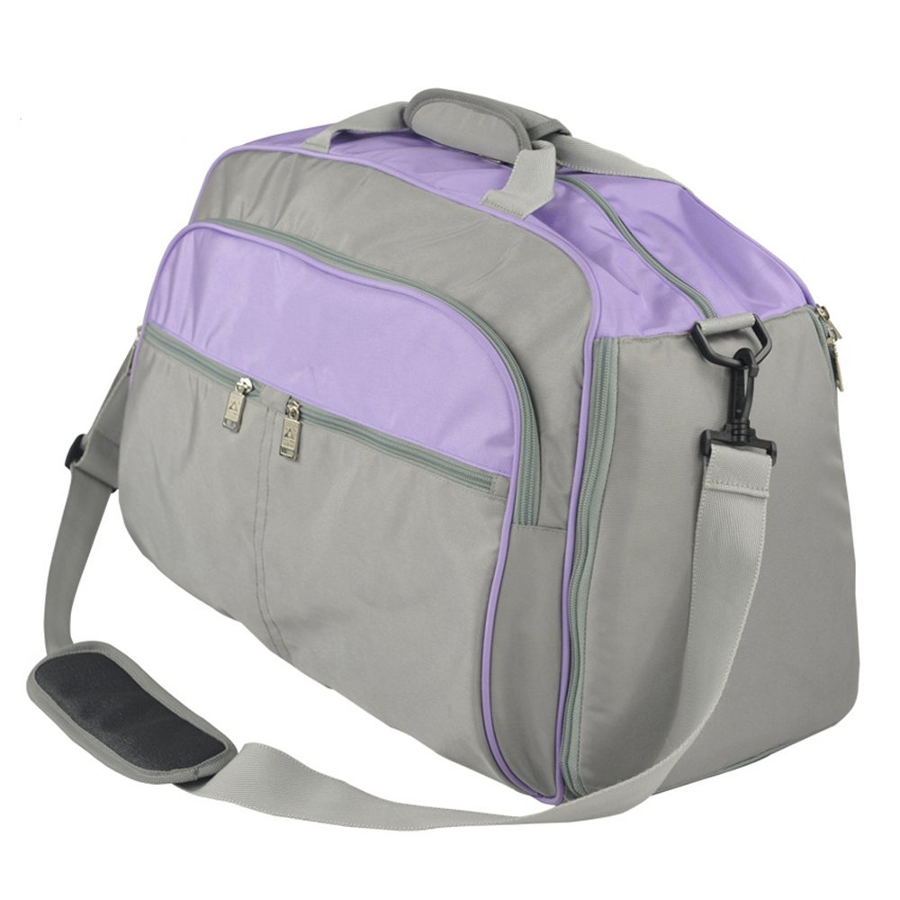 MIMI KING Fishing Chair Luggage Bag With Folding Chair Casual Large Capacity Short Travel Shoulder Bag Men And Women Portable Hand Bag 552332Cm,Purple