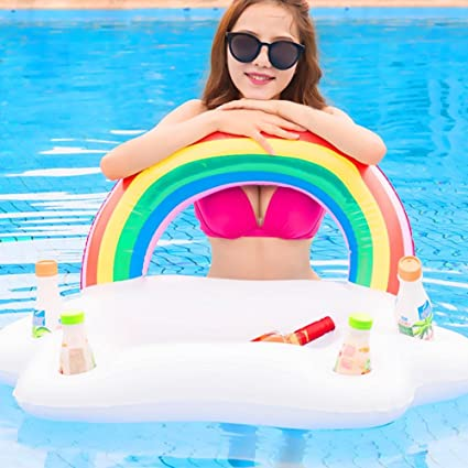 Amazon Com Inflatable Cup Holder Swimming Drink Holder Floating