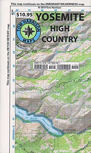 Yosemite High Country (Tom Harrison Maps)