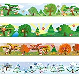 Wandkings border ''Owls and Foxes'' Length: 236 inch, self-adhesive, for children's rooms