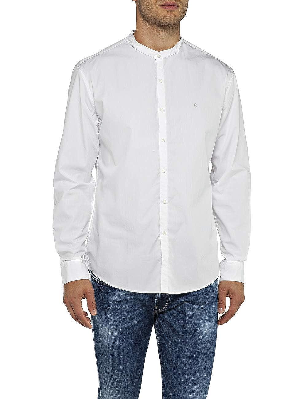 Blanc (blanc 1) 3XL Replay Chemise Décontracté Homme