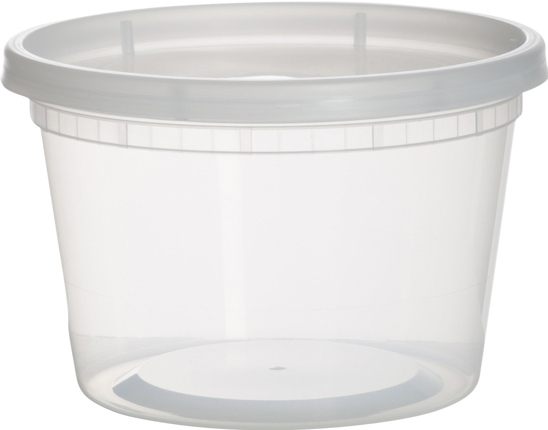 Paksh Novelty Plastic Containers for Lunch/Medium Food Containers with Lids, Leak Proof, Microwavable, Freezer And Dishwasher Safe, 16 Ounce, 36 Pack
