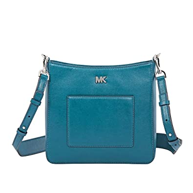 cf38c70efc4c Michael Kors Gloria Polished Leather Pocket Swing Pack Altman Charm - Luxe  Teal
