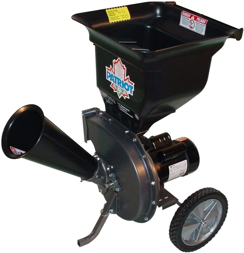 14 Amp Electric Wood Chipper as well as Leaf Shredder by Patriot