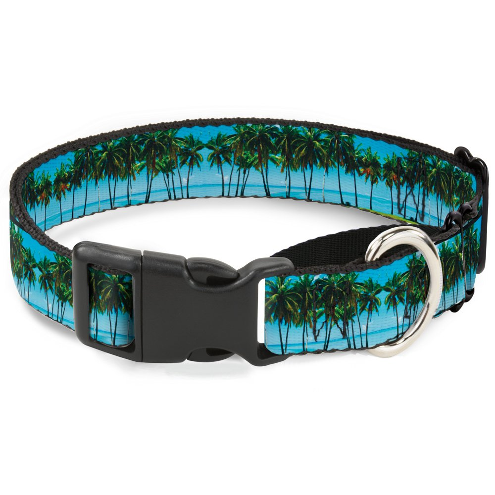 Buckle-Down MGC-W31280-WS Landscape Beach Palm Trees Martingale Dog Collar, Small