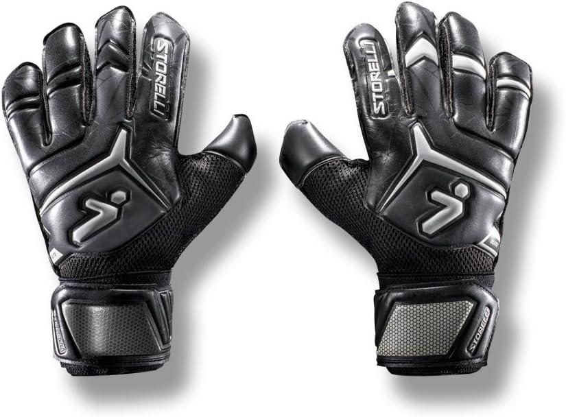 قفازات حارس المرمى جلادياتور إليت 2.0 من ستورلي   قفازات مرمى كرة القدم عالية الأداء مع النتوءات الفقرية بالأصابع   حماية ممتازة للأصابع واليدين   أسود وأصفر