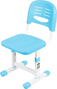VIVO Height Adjustable Kids Desk Chair, Chair Only, Designed for Interactive Workstation, Universal Children's Ergonomic Seat, Blue, DESK-V201B-CH