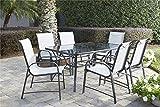 Cosco Outdoor Living ( 88647GLGE) 7 Piece Paloma Steel Patio Dining Set,  Light/Dark Gray