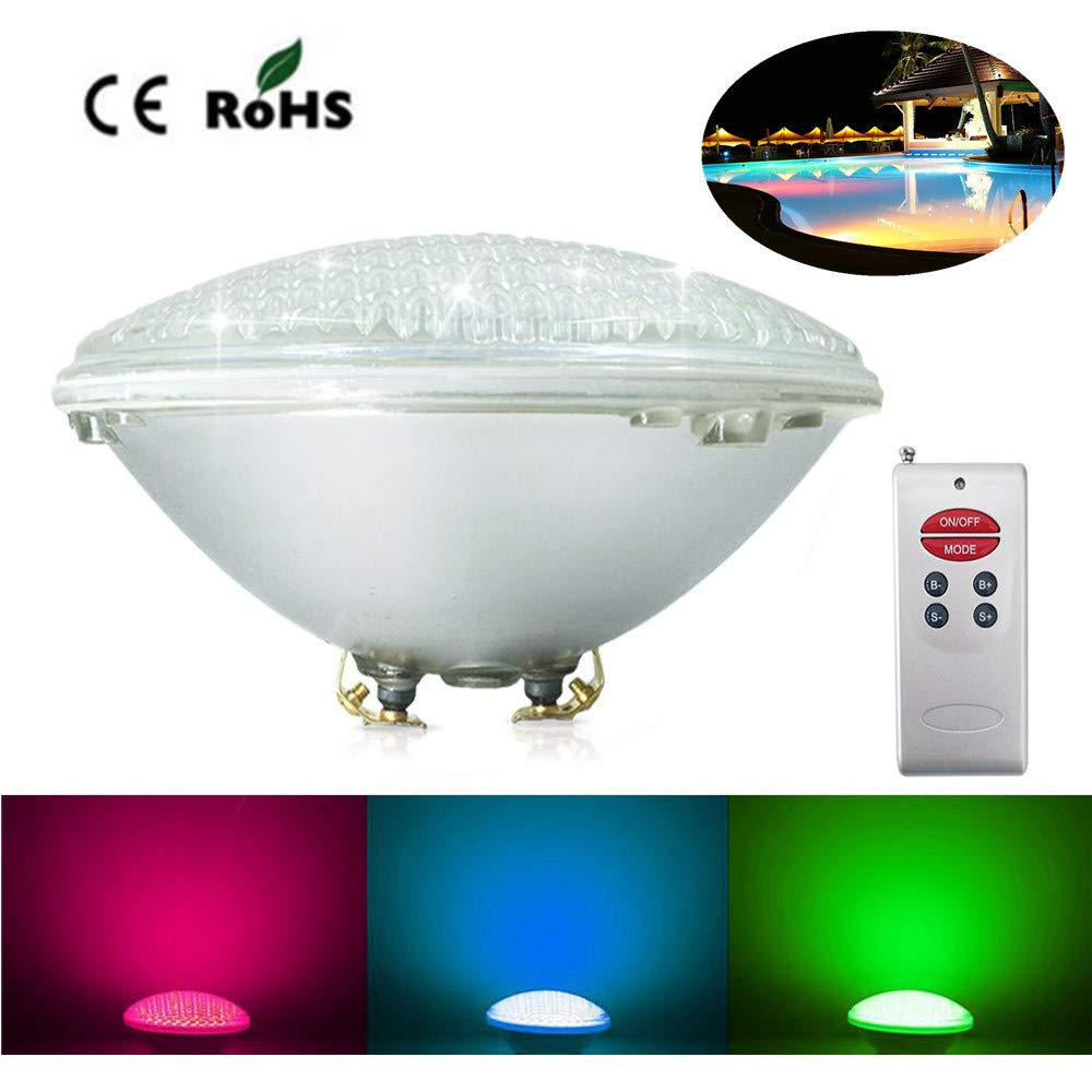 24W HUALEMEI Submersible Led Light Aquarium, Pool Light Lamp 24w, Waterproof Ip68 Pond Lights, Perfect For Outdoor Indoor Swimming Pool Pond Illumination Decoration