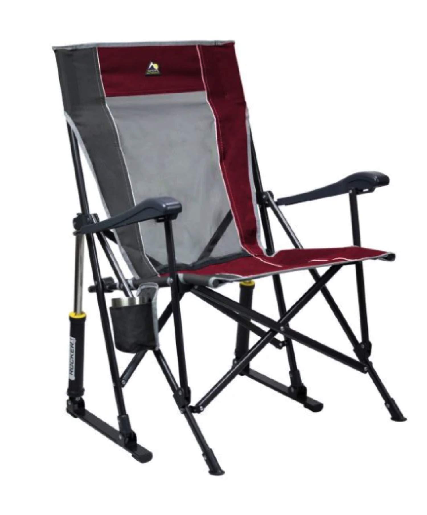 GCI Roadtrip Rocking Chair Outdoor (Cinnamon/Pewter) by GCI
