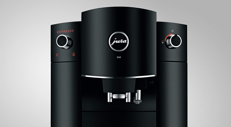 JURA D60 Independiente Máquina espresso 1,9 L Semi-automática - Cafetera (Independiente, Máquina espresso, 1,9 L, Molinillo integrado, 1450 W, Negro): Amazon.es: Hogar
