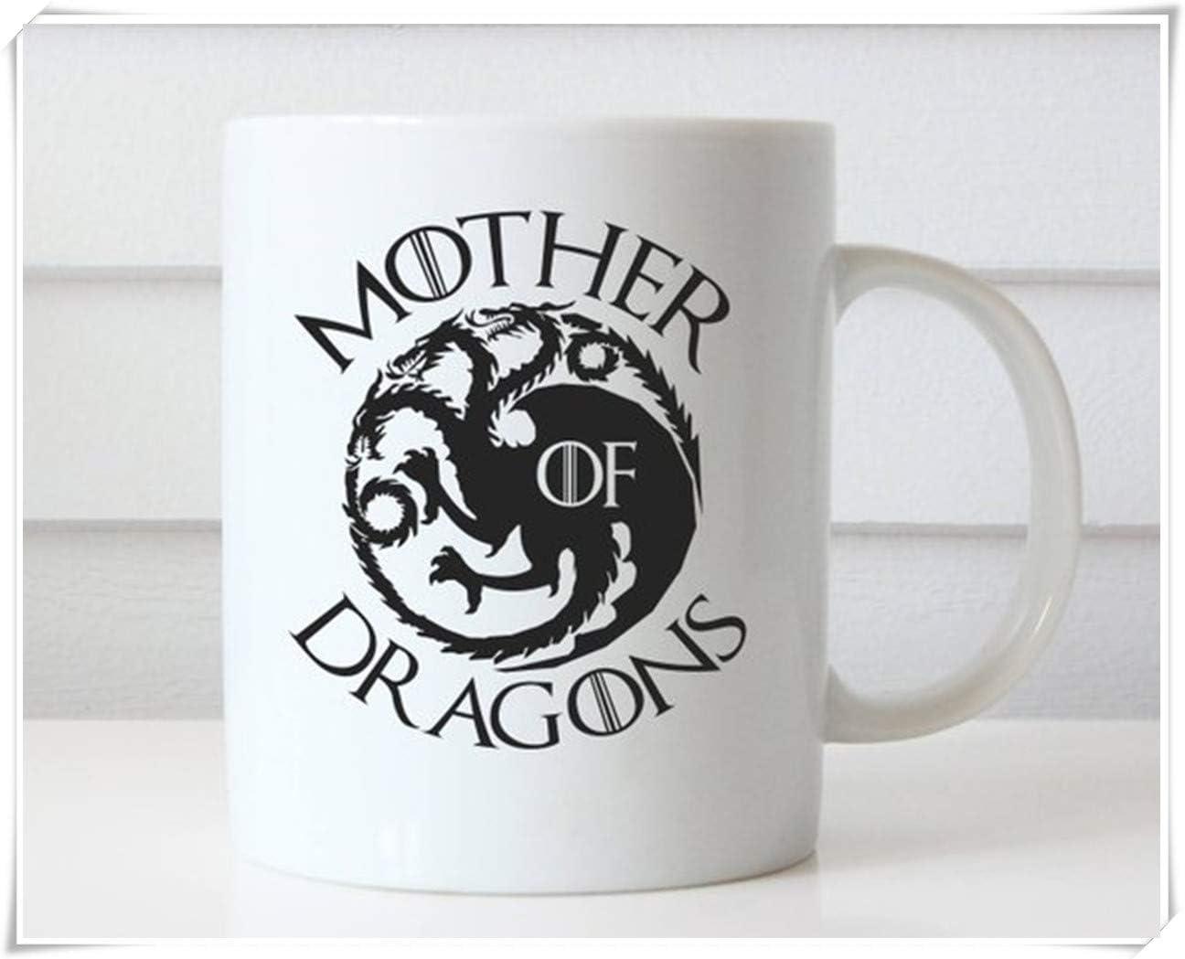 Amazon Com Ottoriven101 Mother Of Dragons Coffee Mug Mother Of Dragons Mug Game Of Thrones Coffee Mug Game Of Thrones Mug Game Of Thrones Gift Christmas Gift 11oz Ceramic Coffee Mug Tea Cup