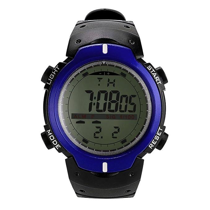 Relojes Los electrónicos para Hombres Multifunciones Deportes al aire libre Militares Digital Reloj Deportivo Resistente contra Agua de 50m Esquí, ...