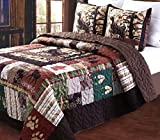 Greenland Home 3 Piece Whitetail Lodge Quilt Set, King