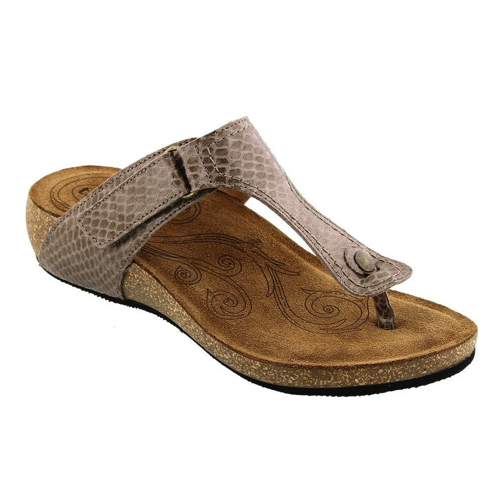 Taupe Snake Leather Taos Women's Lucy Wedge Sandal