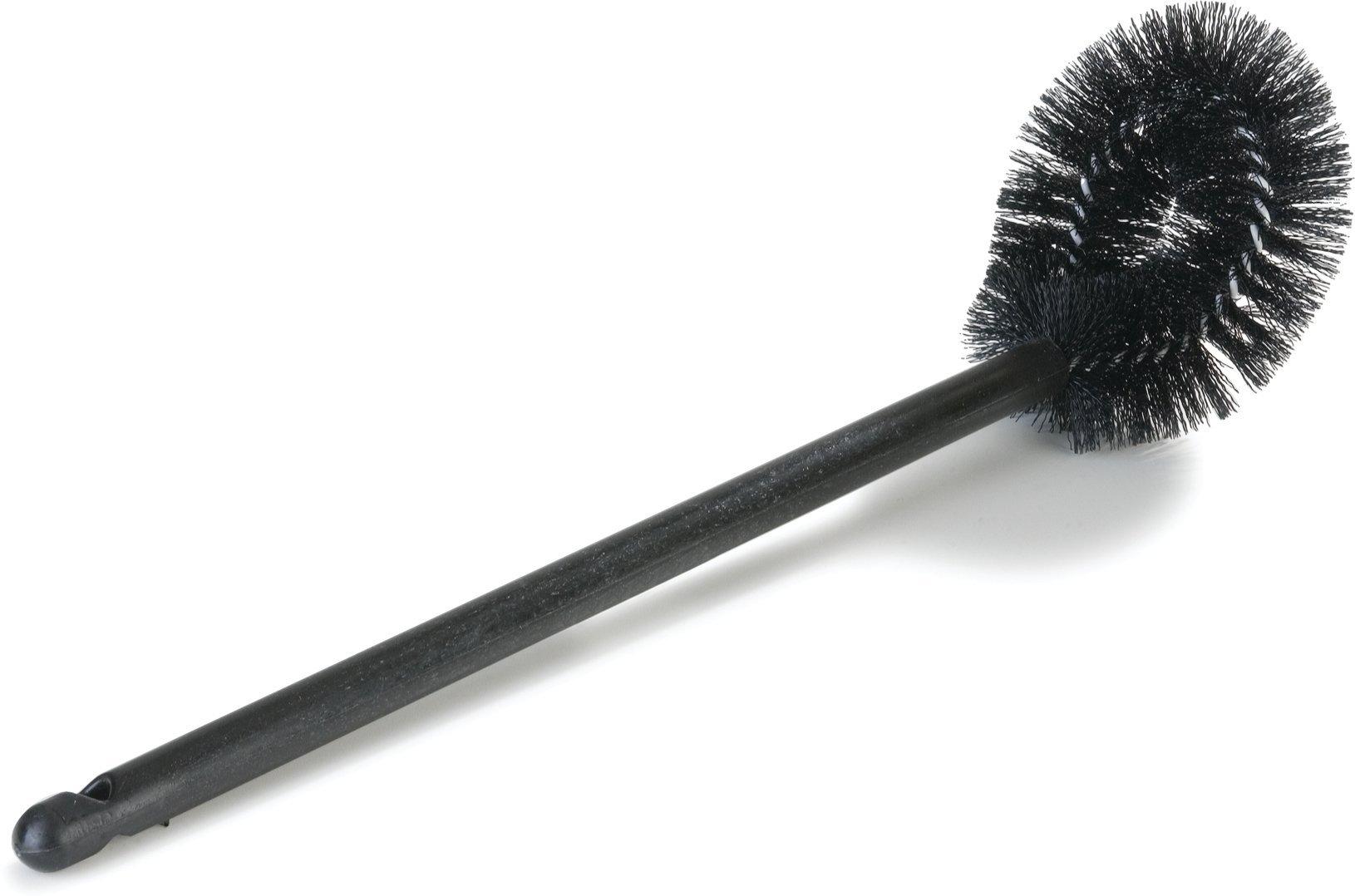 Carlisle 3631303 Plastic Handle Bowl Brush, Nylon Bristles, 5-1/2'' Length x 4-1/2 Width Brush, 20'' Length, Black (Case of 24)