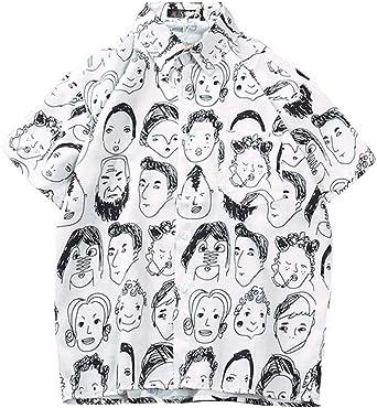 Hombre Kimono Camisa Estampada De Persona Social Abstracta ...