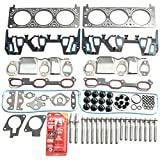 #8: BLACKHORSE-RACING Head Gasket Head Bolt Set Kit For 1996-2005 Chverolet Ponatic Oldsmobile 3.1L 3.4L V6 VIN E J