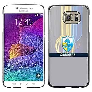 Cargadores - Metal de aluminio y de plástico duro Caja del teléfono - Negro - Samsung Galaxy S6