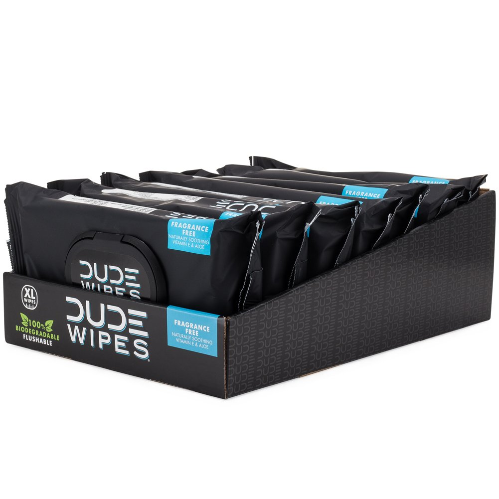 Dude Products Wipes Flushable Wipes Dispenser, Pack of 6
