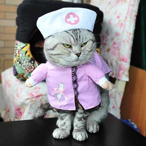 YMKWQF Ropa para Mascotas Ropa Divertida para Gatos Traje De ...