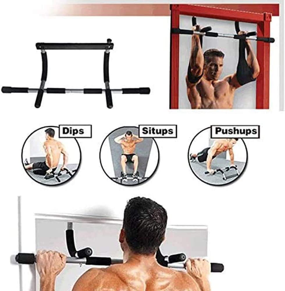 FU Electronic Adjustable Iron Pull Up//Chin Up Bar Portable Doorway Upper Body Workout for Home Gyms