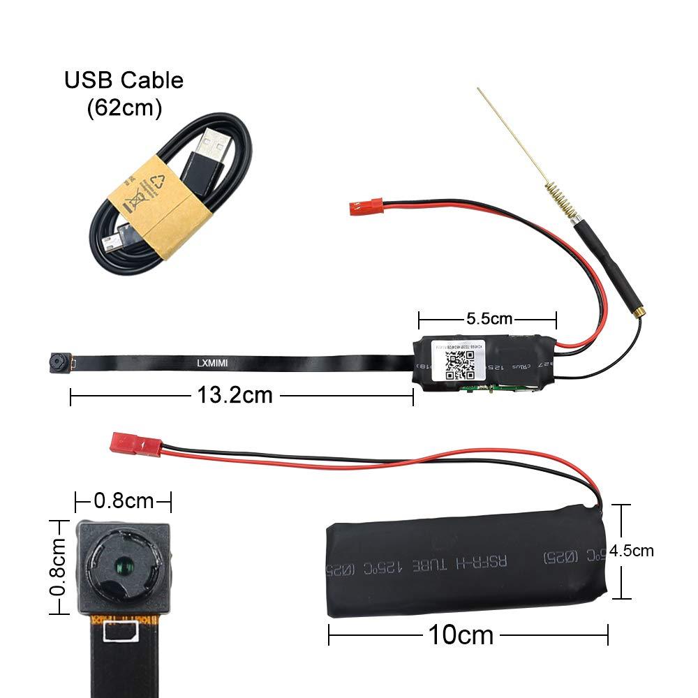 Mini WiFi Cámara Espía LXMIMI 1080P Mini WiFi Cámara Oculta Inalámbrica Mini Cámara con Control de la Aplicación de Detección de Movimiento para iOS y ...