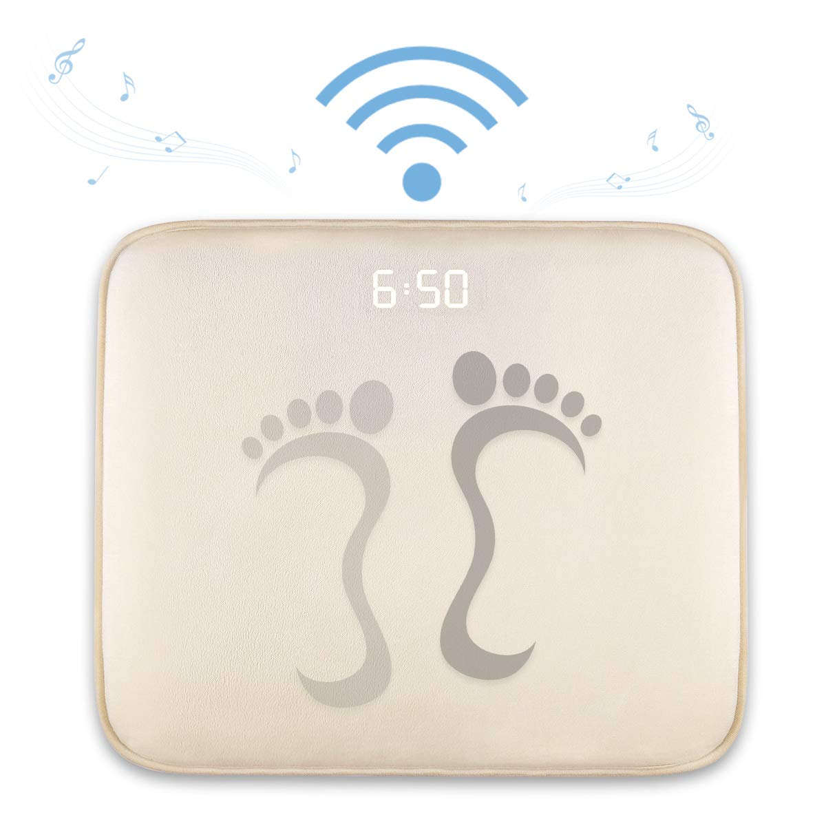 DLRB Alarm Clock for Heavy Sleepers,Instecho Rug Carpet Alarm Clock White-Old Digital Display,Pressure Sensitive Alarm Clock with The Softest Touch for Modern Home JaneSame