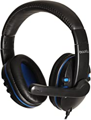 booEy GH15B Gaming Headphones für PS4/PS3/Xbox360/PC/Mac blau